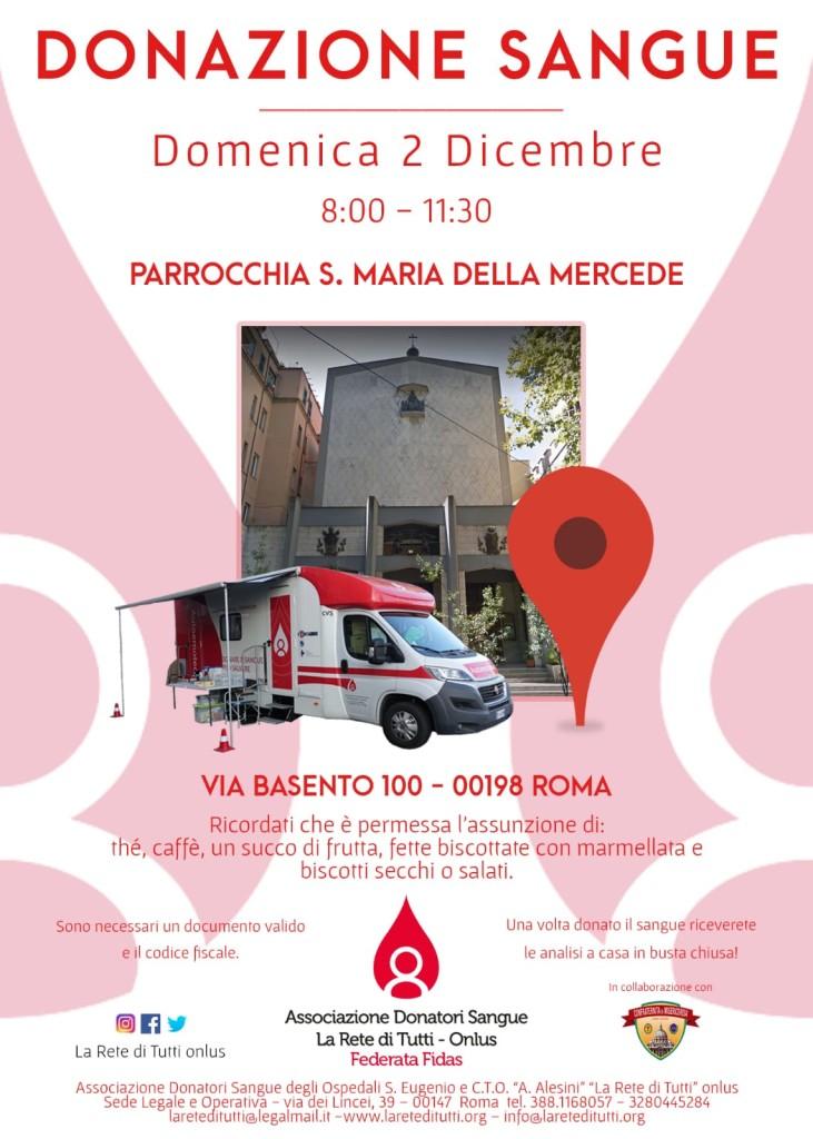 Donazione Sangue - 2 dicembre 2018